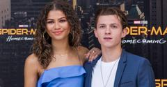 Zendaya and Tom Holland pose at the  'Spider Man: Homecoming' photo call