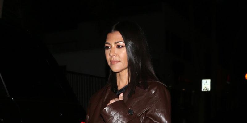 Kourtney Kardashian Rocks Fierce Leather Jacket For Dinner