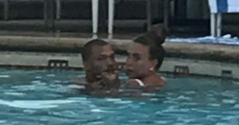 Hot felon jeremy meeks kisses girlfriend chloe green in steamy pool sesh amid divorce hero