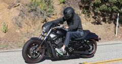 EXCLUSIVE: ** PREMIUM RATES APPLY** Bruce Jenner goes for a late afternoon spin on his motorcycle.