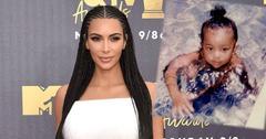 Kim Kardashian Saint Man Bun Pic PP