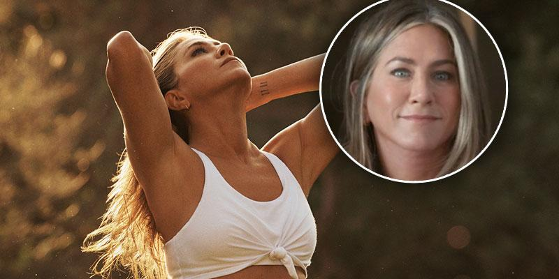 Jennifer Aniston shows off her toned abs sexy Vital Proteins campaign shoot