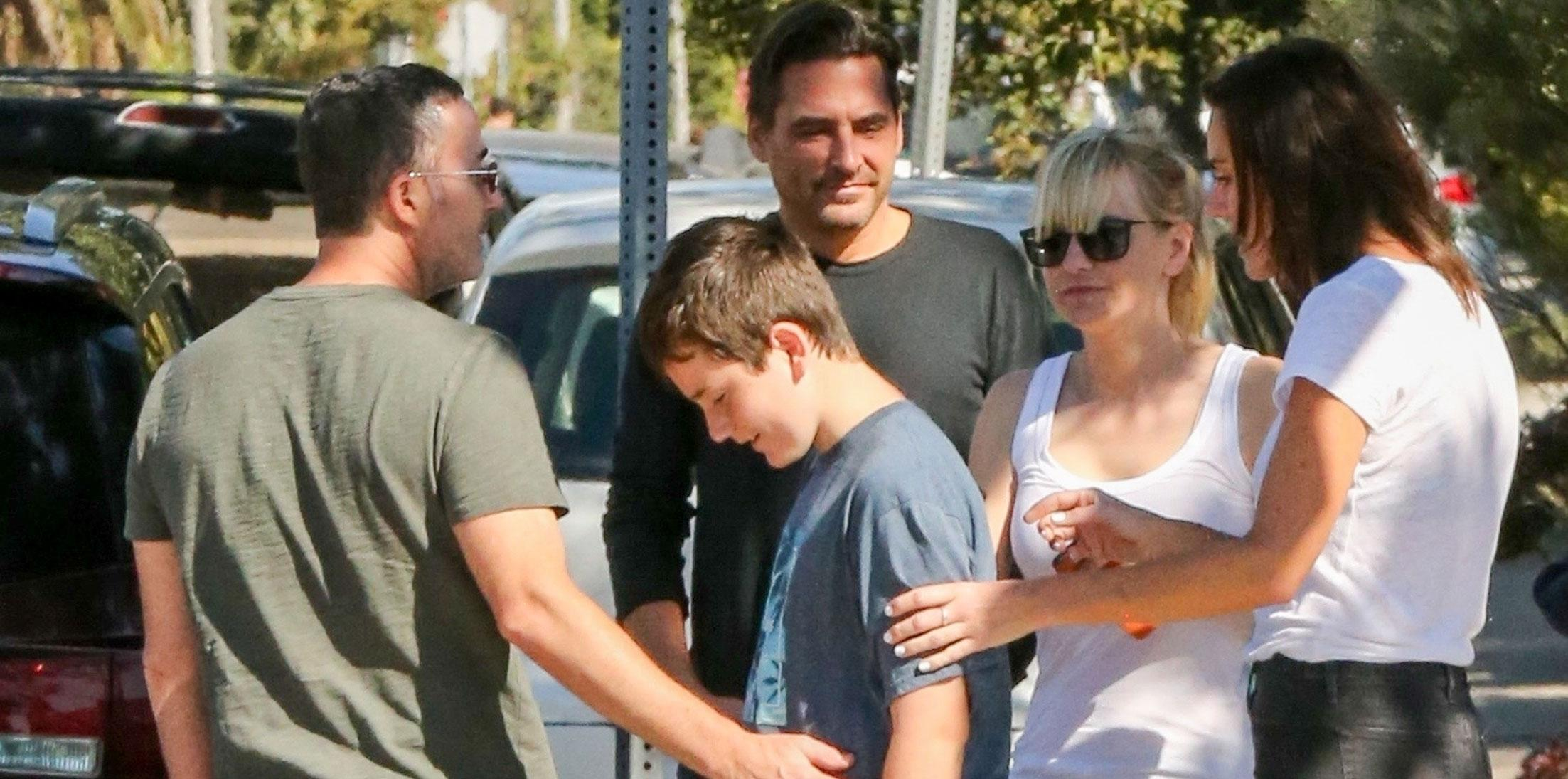 Anna faris family visit bf wide
