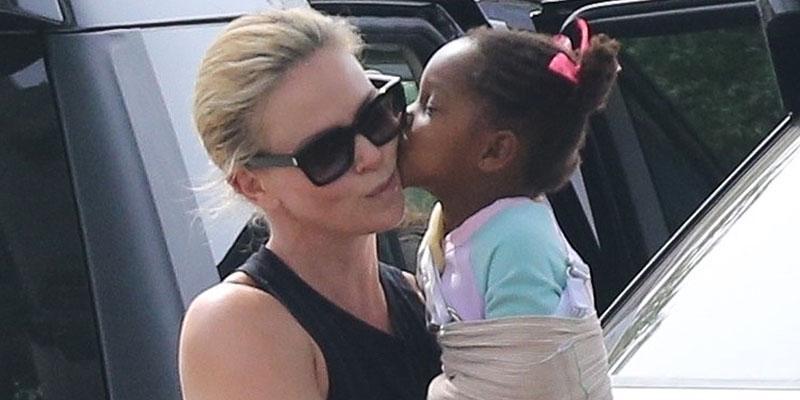 Charlize theron daughter share kiss main