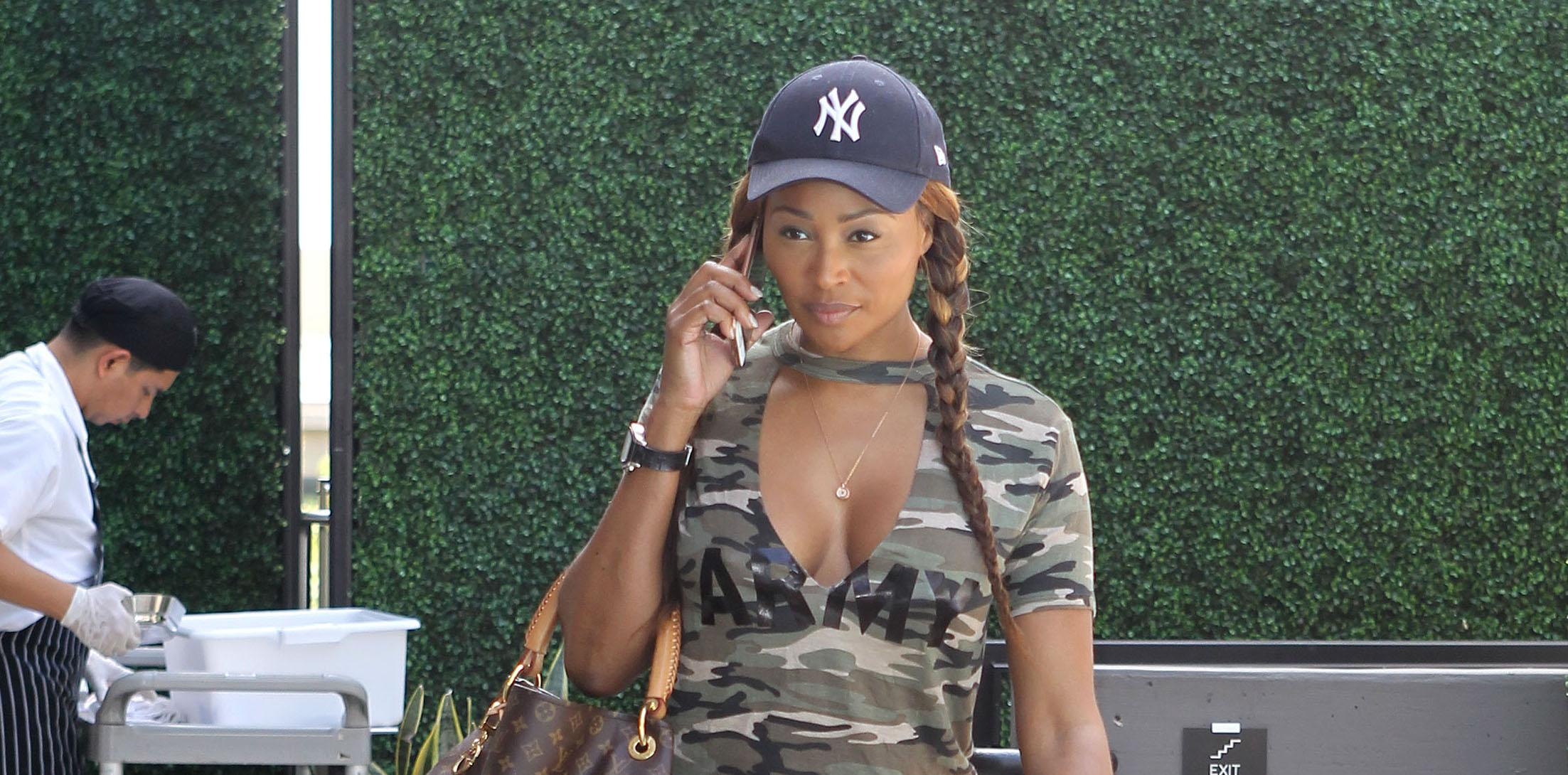 EXCLUSIVE: Real Housewife of Atlanta Star Cynthia Bailey at the pool