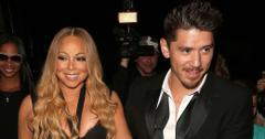 Mariah Carey and Bryan Tanaka arrive to a huge crowd at Mastro's on a tour bus