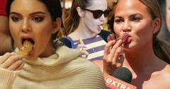 Models eating junk food