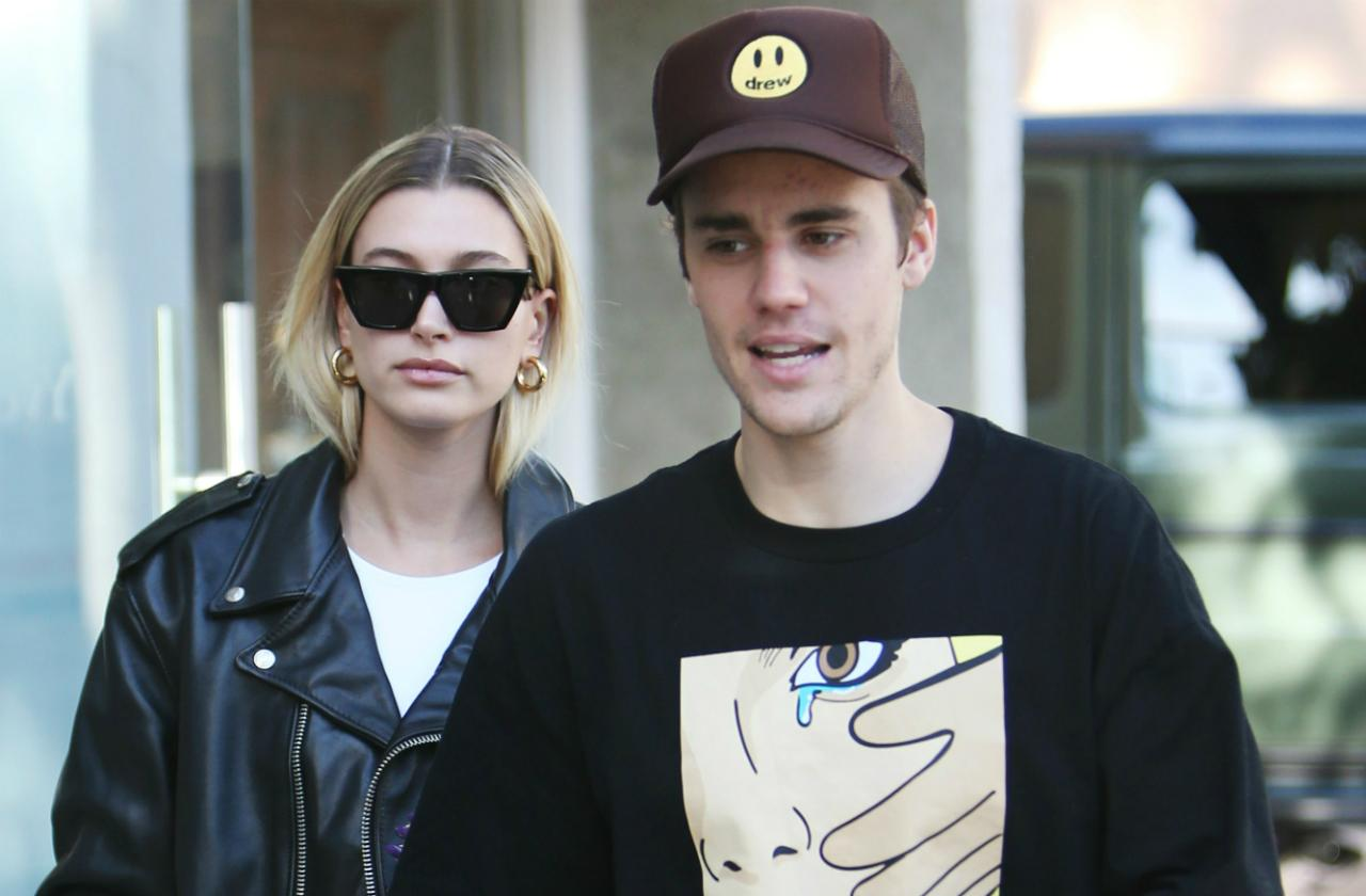 Justin Bieber and Hailey Baldwin in Los Angeles.