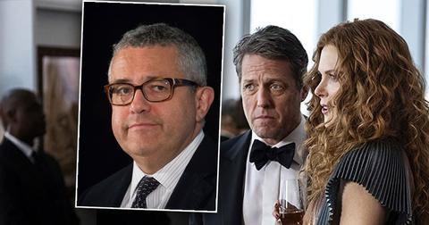 Inset of CNN Jeffrey Toobin, Photo Hugh Grant and Nicole Kidman from HBO's The Undoing