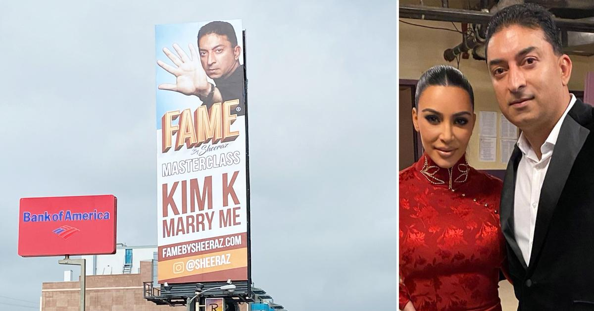 kim kardashian proposal from media guru sunset strip billboard ok