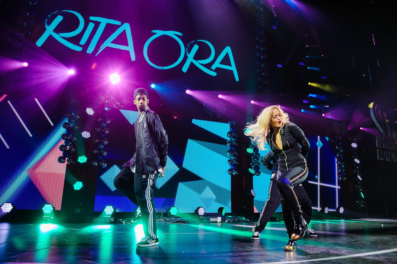 Rita Ora performs at Jingle Ball 2014 in Philadelphia