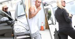 Pregnant ashlee simpson works out