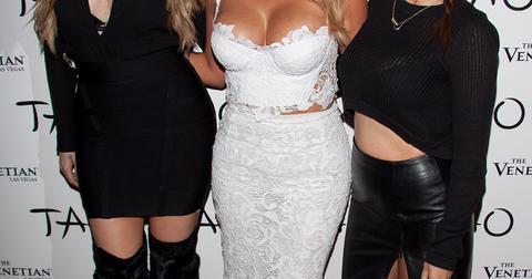 Celebrity arrivals at Kim Kardashian's 33rd birthday celebration at TAO Nightclub in Las Vegas