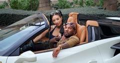 Jeannie Mai And Jeezy In A White Sports Car