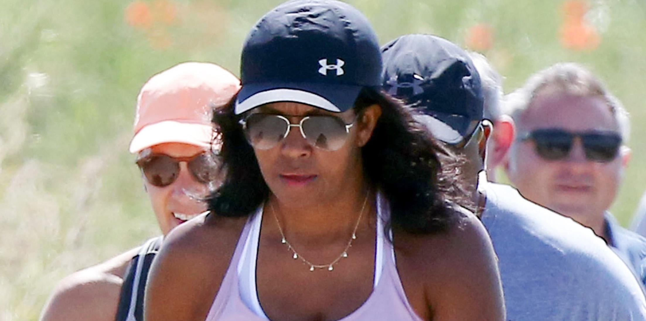 Former First Lady Michelle Obama hikes the Italian Countryside with friends