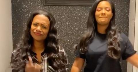 Kandi Burruss Daughter Riley Son Ace Dancing In Bathroom School Project Video