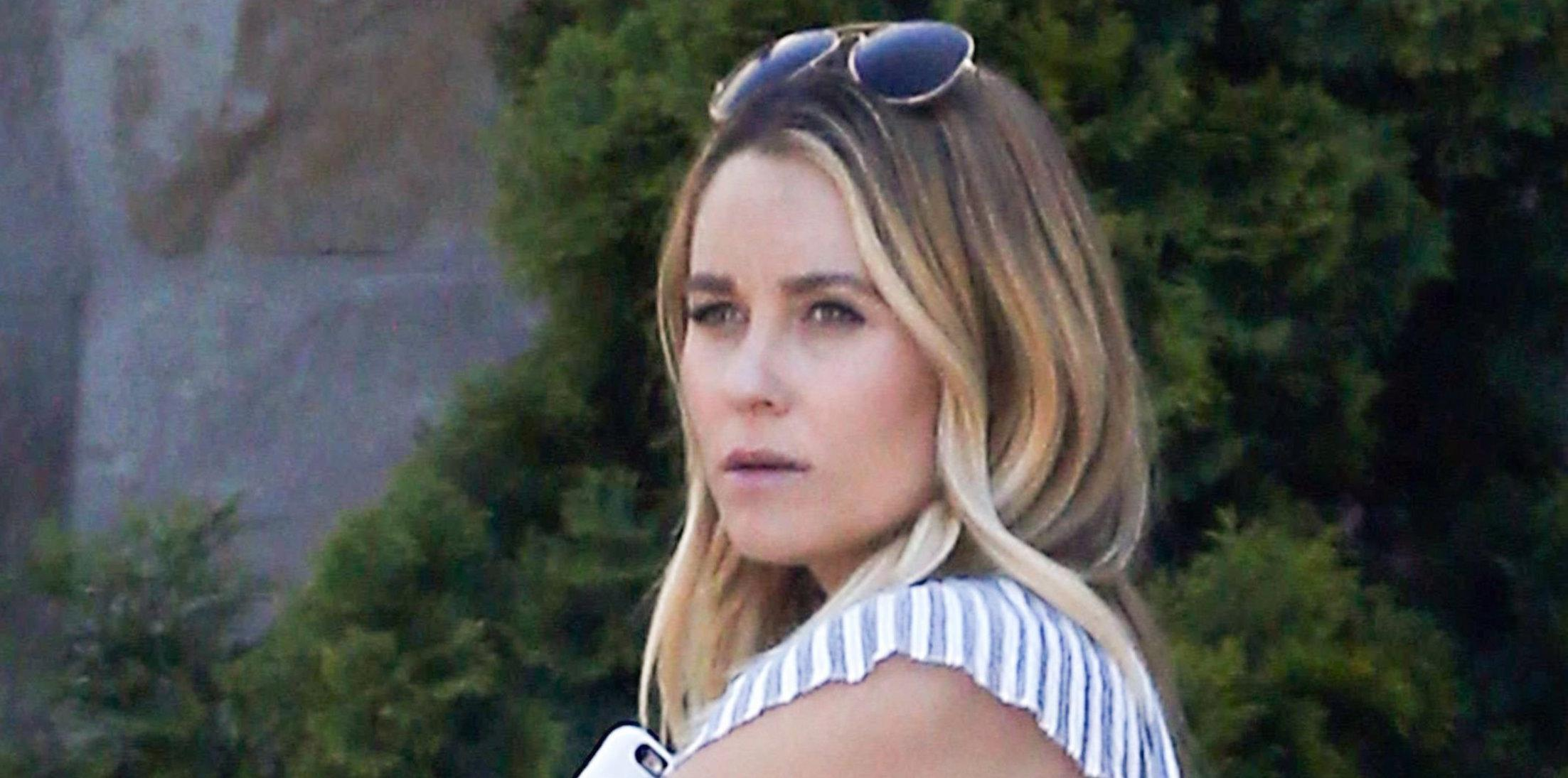 *EXCLUSIVE* Very Pregnant Lauren Conrad looks ready to pop as she attends her Baby Shower
