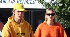 Justin Bieber And Hailey Baldwin Walking On The Street