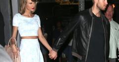 Taylor swift calvin harris hold hands