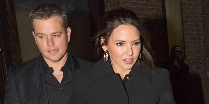 Matt damon carries wife purse