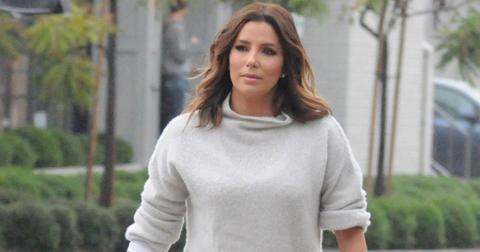 *EXCLUSIVE* Eva Longoria catches an Early Dinner at Gracias Madre in WeHo