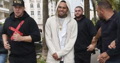 Chris Brown leaves Eden Place in Cannes