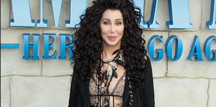 Cher wardrobe malfucntion small bodysuit mama mia premiere