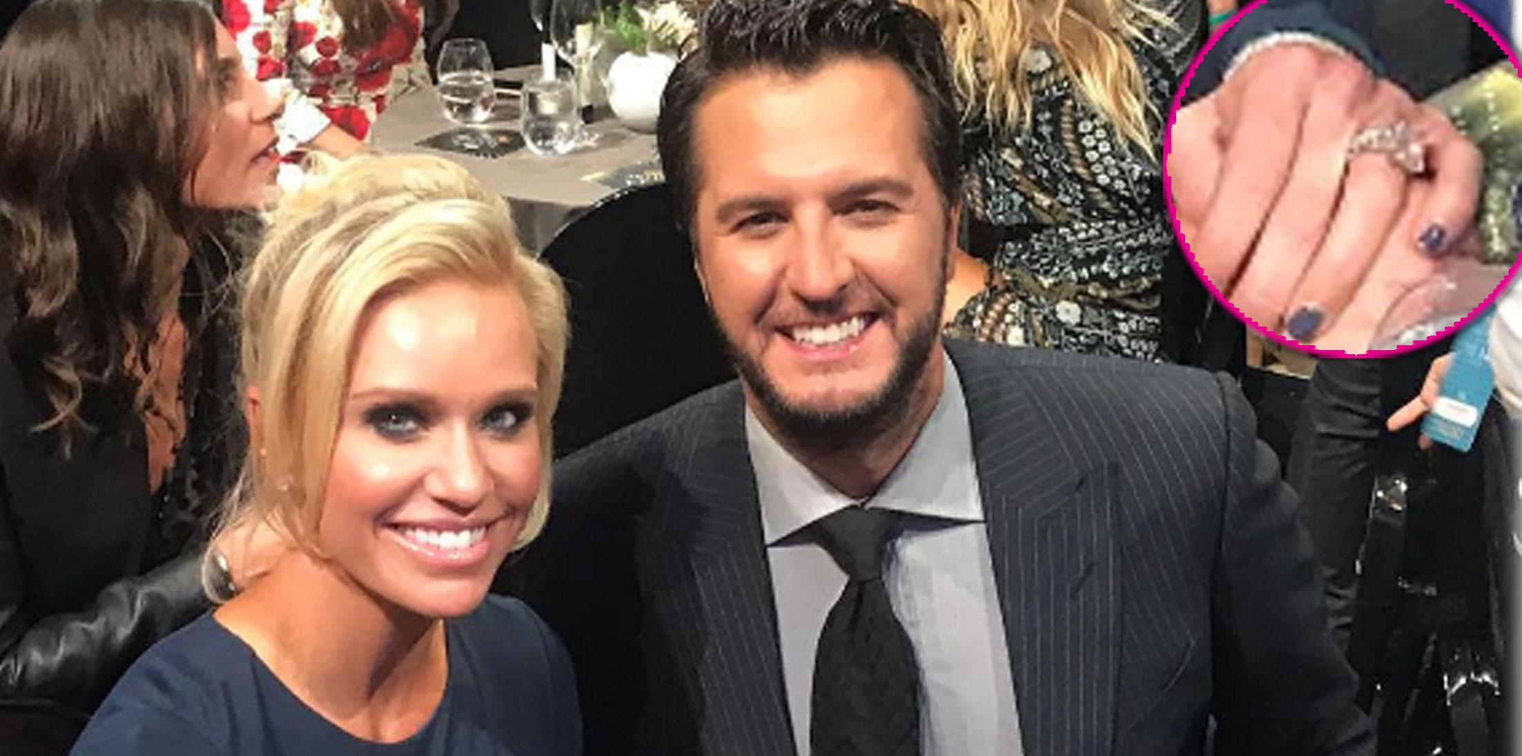 Luke Bryan Wife Diamond Engagement Ring Long