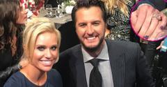 Luke Bryan Wife Diamond Engagement Ring Long