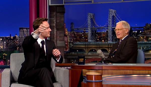 Michael Fassbender on Letterman