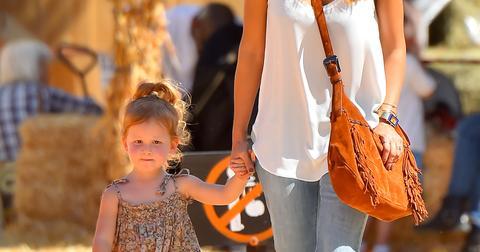 Jessica Alba and Cash Warren take their kids to Mr Bones Pumpkin Patch in West Hollywood
