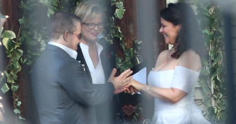 Patton oswalt meredith salenger wedding wide