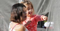 Jenna Dewan has fun with her daughter at the farmers market