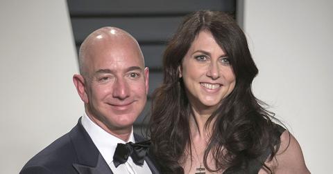 Jeff Bezos and Mackenzie Scott on the red carpet