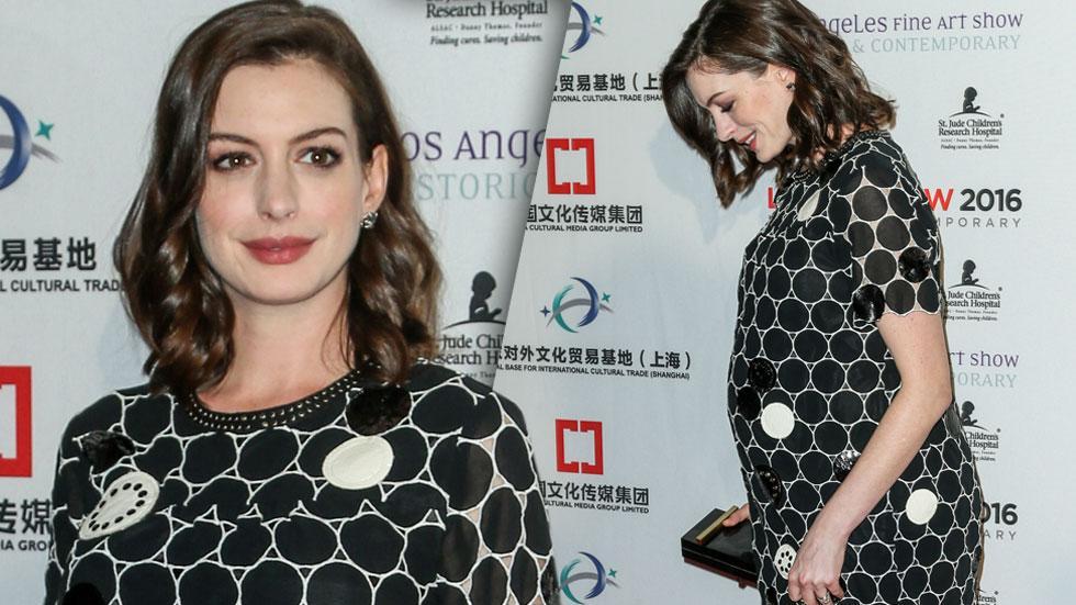 Babys First Red Carpet! Anne Hathaways Pregnancy Bump