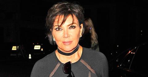 Kris Jenner suffers a mild wardrobe malfunction as she heads to dinner with her boyfriend