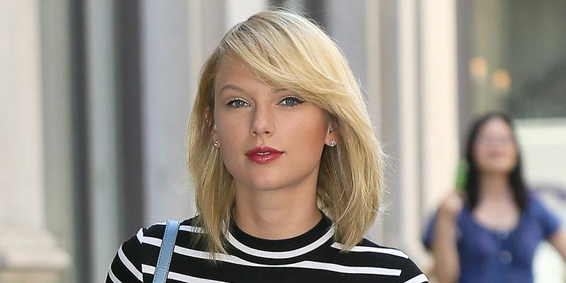 Taylor Swift gets her shopping done wearing stripes