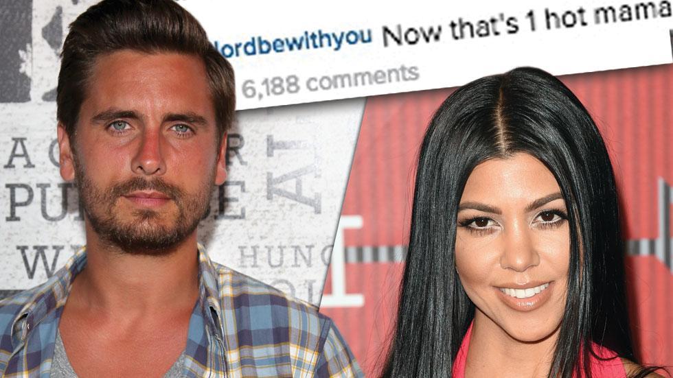 Scott Disick Posts Nude of Kourtney Kardashian on