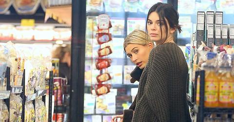 Kendall jenner hailey baldwin shopping