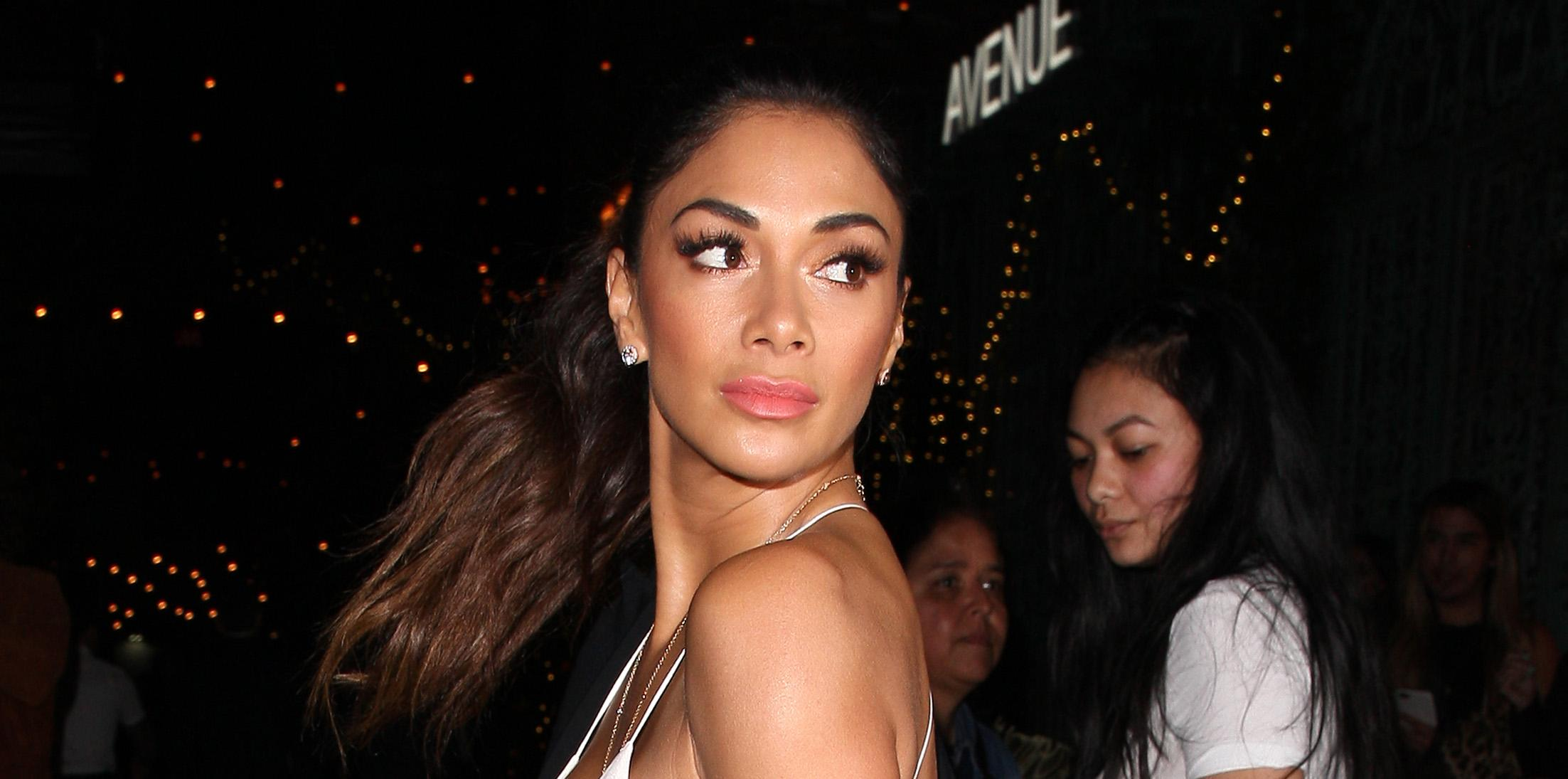 Nicole Scherzinger goes to Beauty and Essex restaurant for dinner after attending a premiere