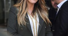 Khloe Kardashian Flashes Her Wedding Ring In London