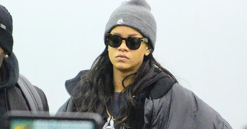 Rihanna dressed casually as she catches a flight at JFK airport