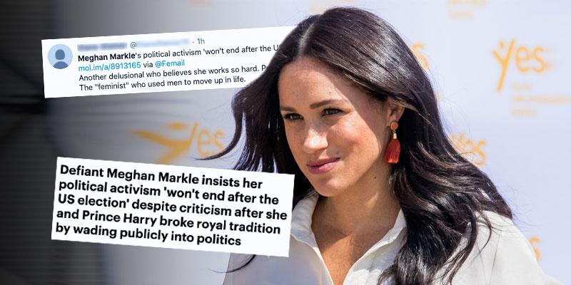 Meghan Markle] Sparks Outrage After Becoming First Royal To Vote In US Election