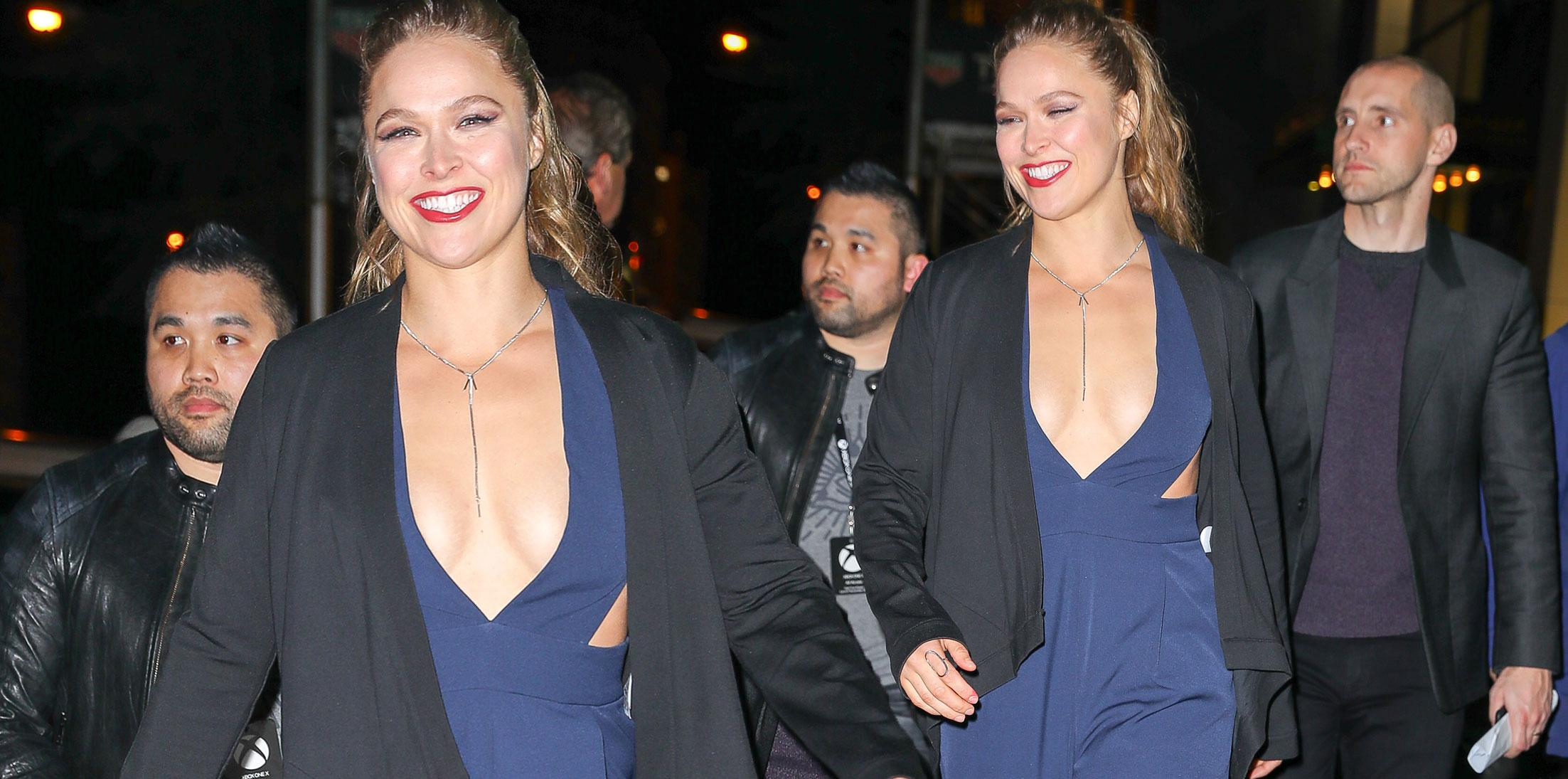 Ronda Rousey Busting Out Xbox Event