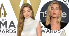 Gigi Hadid On Red Carpet Hailey Baldwin Inset