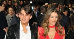 Damian Hurley and Elizabeth Hurley at the world premiere of 'The Time of Their Lives' in London
