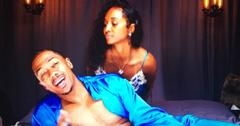 Nick Cannon and Rozanda 'Chilli' Thomas in bed together for new music video.