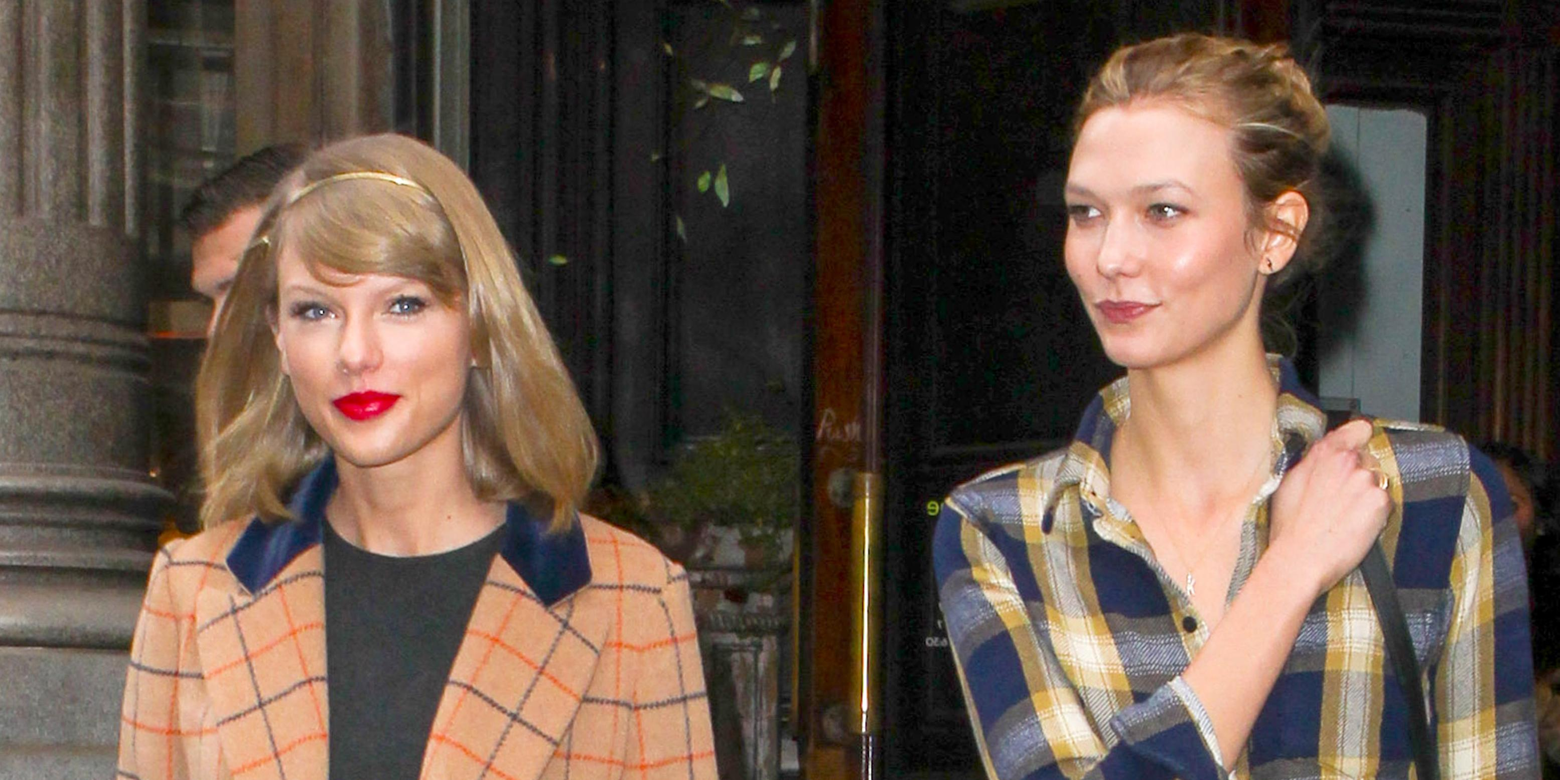 Taylor Swift and Karlie Kloss leaving a lunch date at ABC Kitchen