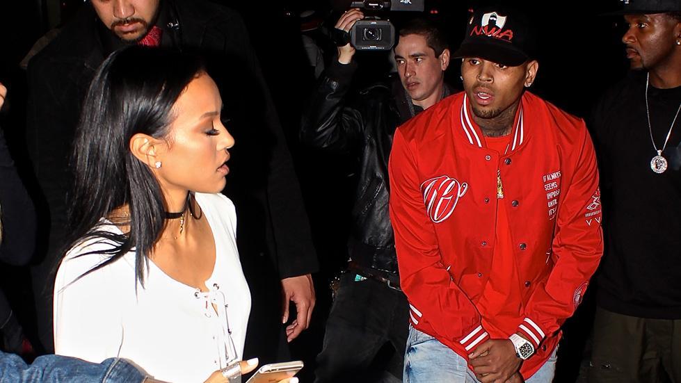 Chris Brown and Karrueche Tran reunite at Club PlayHouse