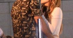Khloe Kardashian and French Montana kiss at the top of a yacht during Khloe's 30th birthday party at Pier 61